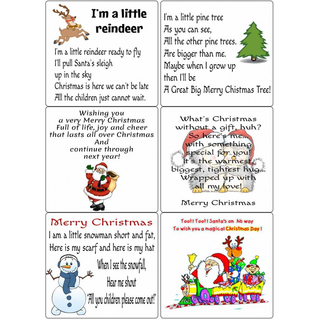 Peel Off Kids Christmas Verses 2 | Sticky Verses for Cards and Crafts