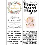 Easy Peel Self Adhesive Life is Beautiful Quotes by Essential Crafts