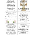 Easy Peel Self Adhesive Memories of Loved Ones Verses by Essential Crafts