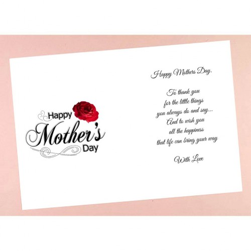 C6 Mother's Day Verses Card Inserts with images - Pack of 10 (portrait)