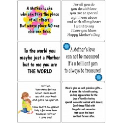 Easy Peel Self Adhesive Mothers Day Verses 3 by Essential Crafts