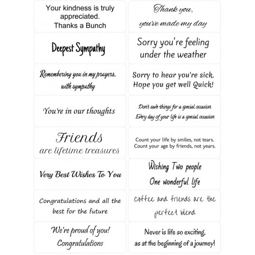 Easy Peel Self Adhesive Occasional Sentiments 1 by Essential Crafts