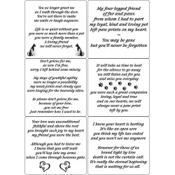Easy Peel Self Adhesive Pet Memorial Verses by Essential Crafts