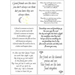 Easy Peel Self Adhesive Friendship Verses by Essential Crafts