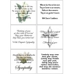 Easy Peel Self Adhesive Sympathy Verses 3 by Essential Crafts