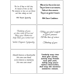 Easy Peel Self Adhesive Sympathy Verses 3 (no images) by Essential Crafts