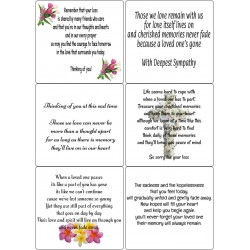 Easy Peel Self Adhesive Sympathy Verses 4 by Essential Crafts