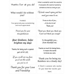 Easy Peel Self Adhesive Thank You Sentiments by Essential Crafts