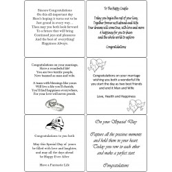 Easy Peel Self Adhesive Wedding Verses 1 by Essential Crafts