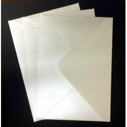 C6 Shimmer White  Envelopes Pack of 20
