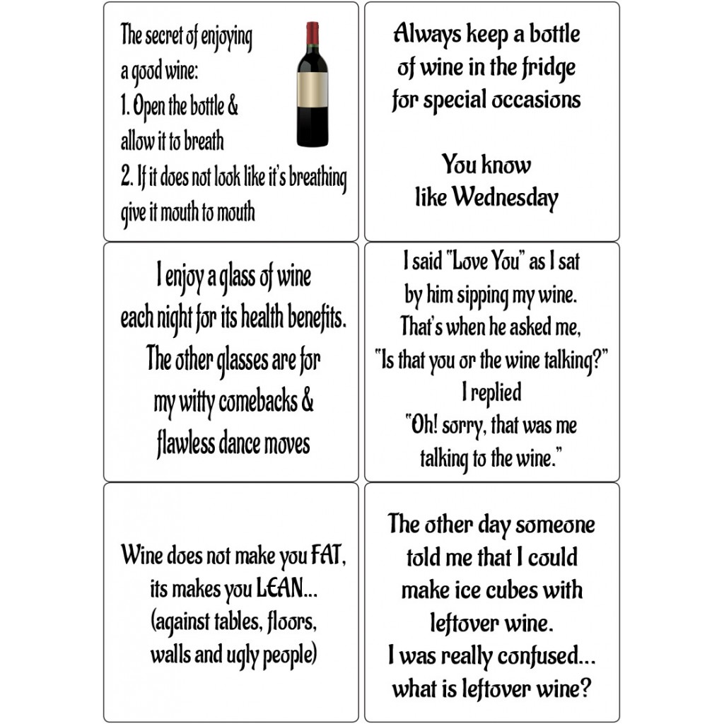 Peel Off Funny Wine Quotes Sticky Verses For Handmade Cards And Crafts