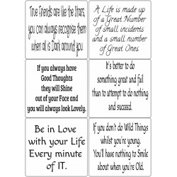 Easy Peel Self Adhesive Words of Wisdom Verses by Essential Crafts