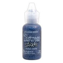 Stickles Tim Holtz Distress Glitter Glue - Faded Jeans - 18ml