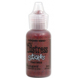 Stickles Tim Holtz Distress Glitter Glue - Fired Brick - 18ml