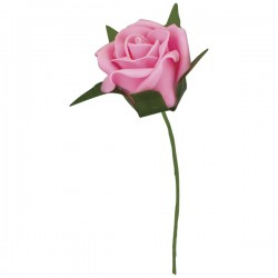 Foam Pink Roses (40mm) - Pack of 4