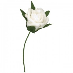 Foam White Roses (40mm) - Pack of 4