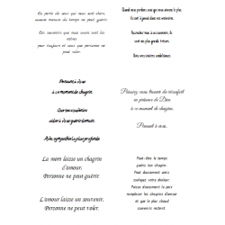 Easy Peel Self Adhesive French Sympathy Verses 3 by Essential Crafts