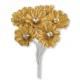 Silk Gold Daisy with Diamante - 6 Stems Embellishment