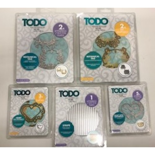 TODO Bargain Set of DieTemplates & Hot foil Plates