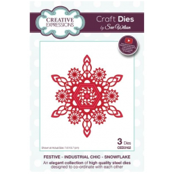 Creative Expressions Sue Wilson Festive Industrial Chic Snowflake Craft Die