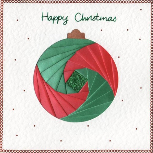 Iris Folding 6 x 6 Aperture Card - Bauble