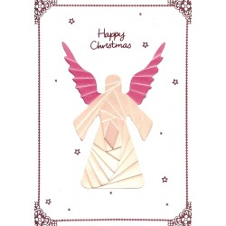 Iris Folding C5 Aperture Card - Angel