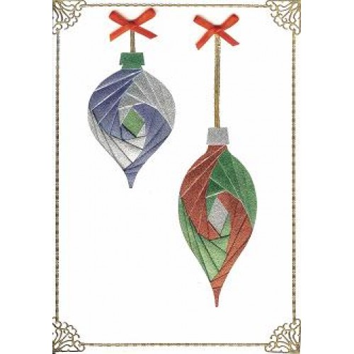 Iris Folding C5 Aperture Card - Baubles 2