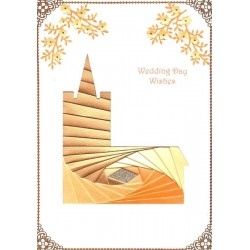 Iris Folding C5 Aperture Card - Church