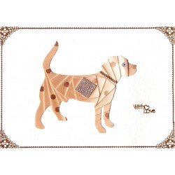 Iris Folding C5 Aperture Card - Dog Large