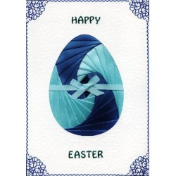 Iris Folding C5 Aperture Card - Easter Egg