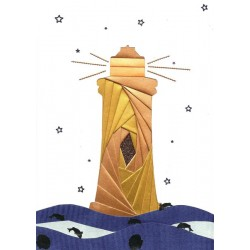 Iris Folding C5 Aperture Card - Lighthouse