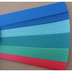 Iris Folding Papers - Pearlescent Blue
