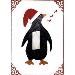 Iris Folding C5 Aperture Card - Penguin