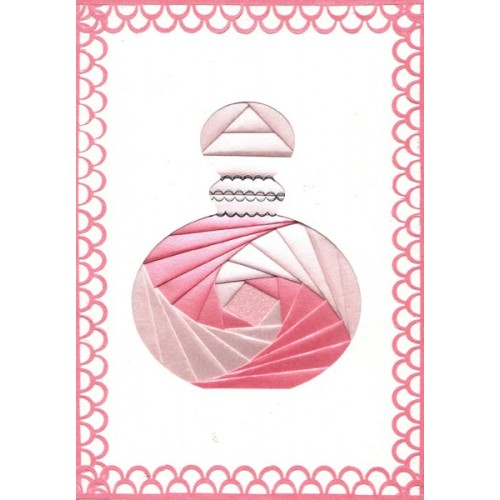 Iris Folding C5 Aperture Card - Perfume Bottle