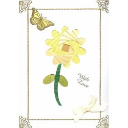 Iris Folding C5 Aperture Card - Sunflower