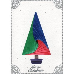 Iris Folding C5 Aperture Card - Tree Tall