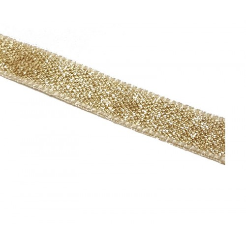 Gold Lame Ribbon Ribbon 7mm x 1m - Berisfords