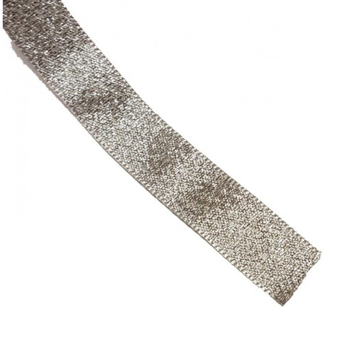 Silver Lame Ribbon Ribbon 15mm x 1m - Berisfords