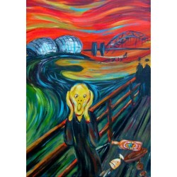 Geordie Scream Print in the style of Munch - by Jim Harker