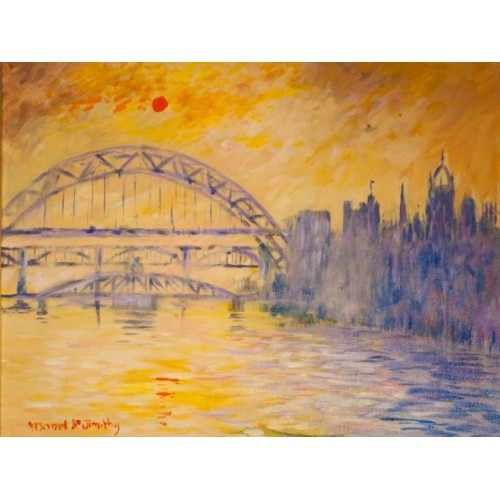 Tyne Bridge Print in the style of Turner - by Jim Harker