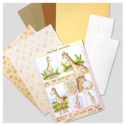 Die Cut Toppers Mini Kit - Baby Giraffe by Katy Sue Designs