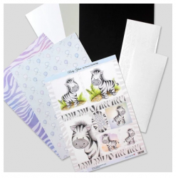Die Cut Toppers Mini Kit - Baby Zebra by Katy Sue Designs