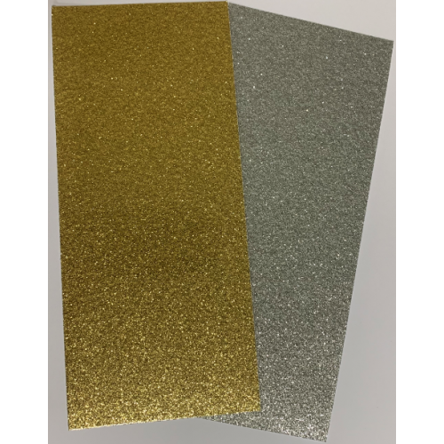 Laser-Cut Vinyl Strips Glitter Pack of 8