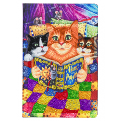 """Kitten Bedtime Stories"" Crystal Art Notebook Kit, 25.5 X 17.5CM"