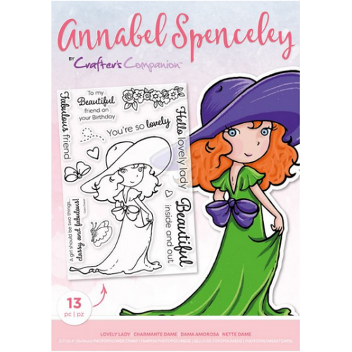 Crafters Companion-Annabel Spenceley Photopolymer Stamp - Lovely Lady