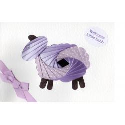 Iris Folding C5 Aperture Card - Lamb