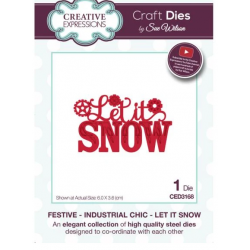 Creative Expressions Sue Wilson Festive Industrial Chic Let It Snow Craft Die