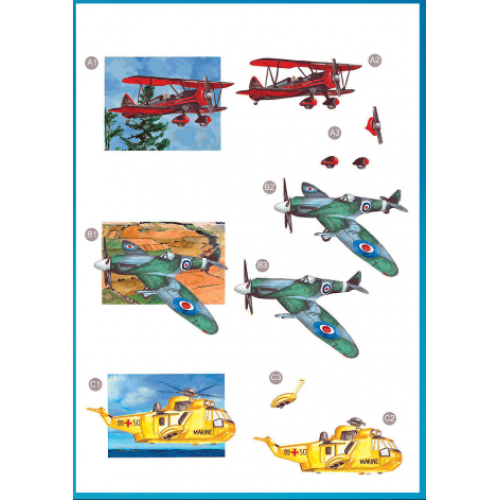 Die Cut Decoupage - Aircraft