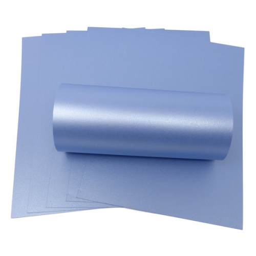 A4 Maya Blue Pearlescent Double Sided Card 300gsm