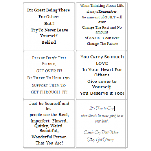 Easy Peel Self Adhesive Mental Health Awareness Quotes 2 by Essential Crafts